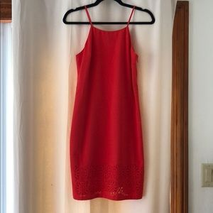Banana Republic Red/Coral Dress Size 2 NWOT